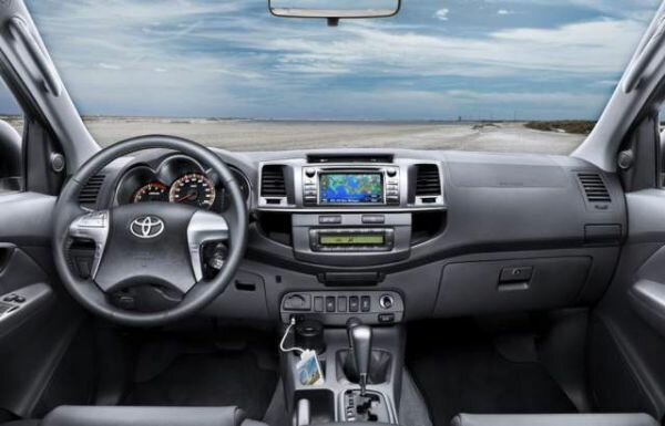 2017 Toyota Hilux inside